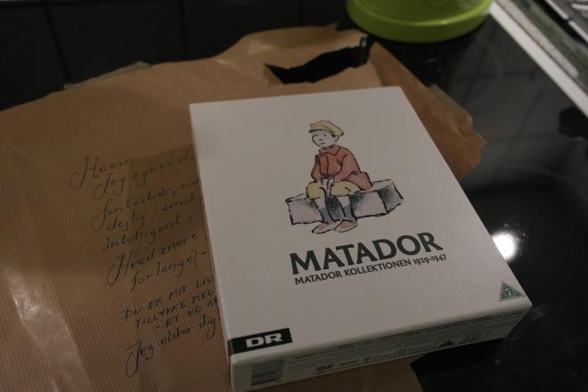 옌스의 1주년 기념 선물 Matador DVD와 포장에 써준 사랑스런 메세지